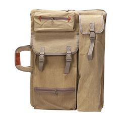 Сумка-рюкзак трансформер для художественных принадлежностей, парусина, светло-коричневый цвет (уценка)