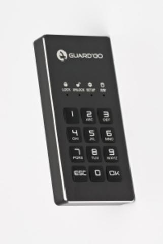 Компактный защищенный внешний диск Guard'Do 128 Gb SSD