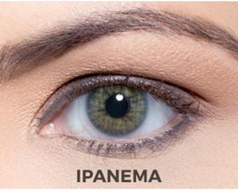Solotica Rio Ipahema сине-зелено-желтые линзы для карих глаз