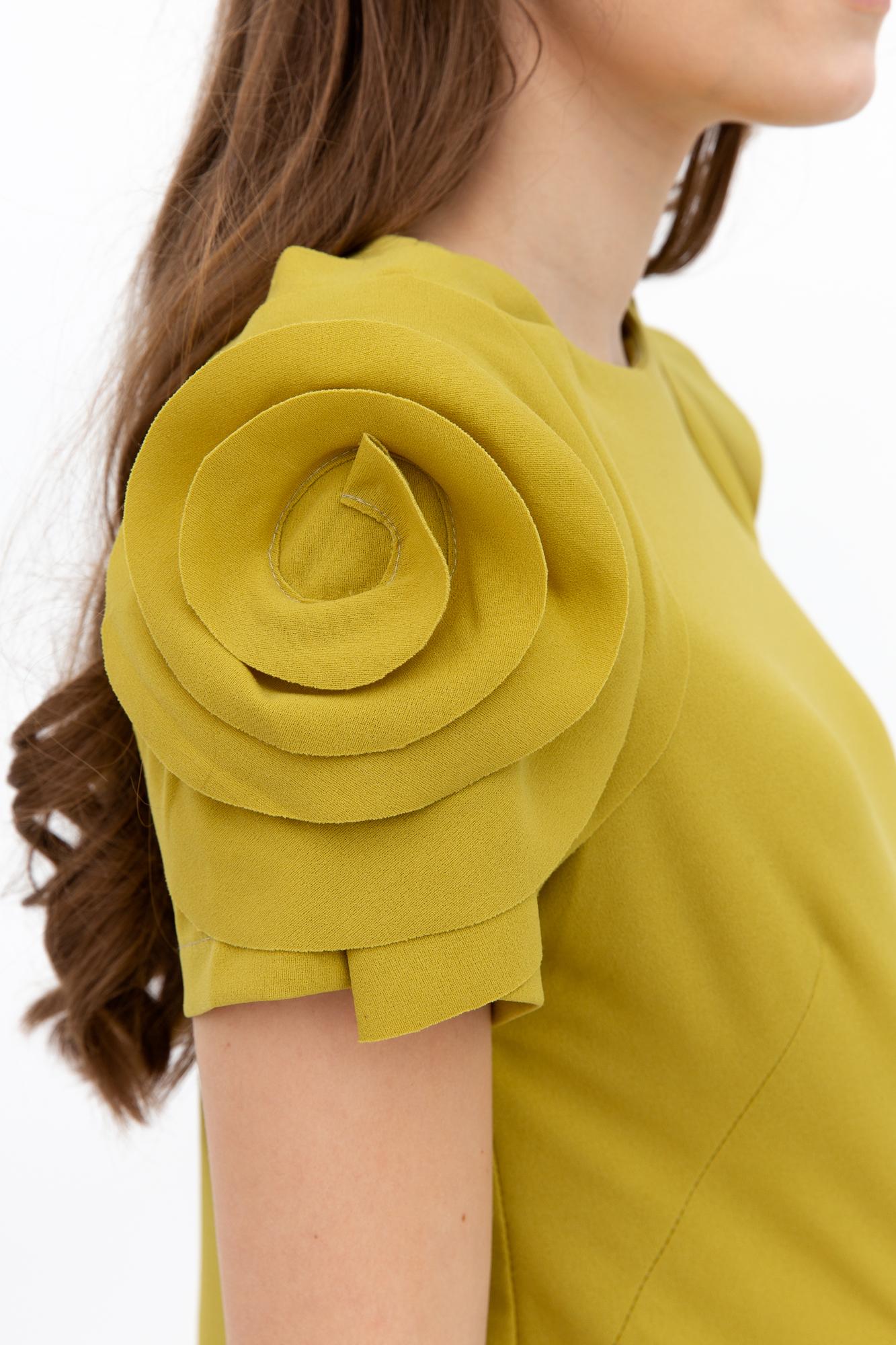 Платье для беременных 08291 горчичный