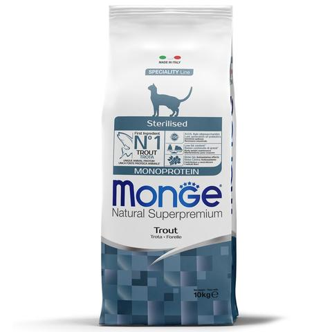 Monge Cat Monoprotein Sterilised Trout Сухой корм для стерилизованных кошек с форелью