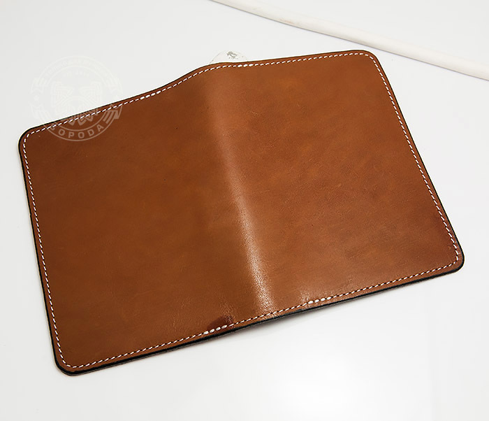 WB117-2 Мужской кошелек и обложка для паспорта с прозрачным окошком. «Boroda Design» фото 03