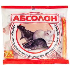 Средство для уничтожения грызунов Абсолон брикеты парафинированные 100 г