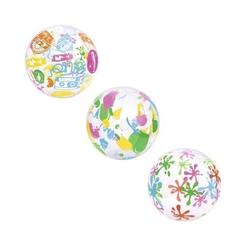 Мяч дизайнерский 51см надувной 31036