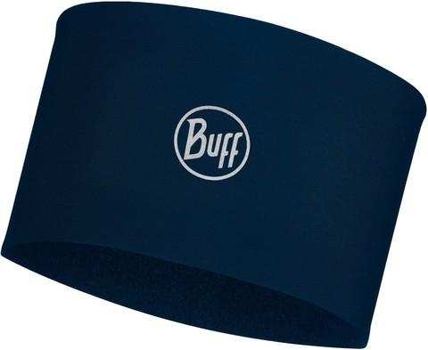 Теплая спортивная повязка на голову Buff Headband Tech Fleece Solid Blue фото 1