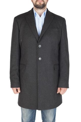 Тёмно-серое шерстяное пальто