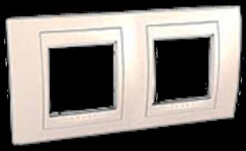 Рамка на 2 поста. Цвет Бежевый. Schneider electric Unica Хамелеон. MGU6.004.25