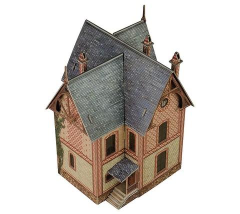 Вилла в Везине. Сборная модель из картона