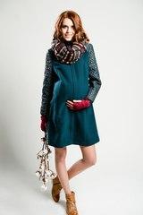 Демисезонное пальто для беременных цвет изумруд