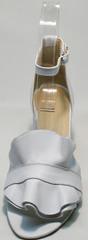 Белые кожаные босоножки женские Ari Andano K-0100 White.
