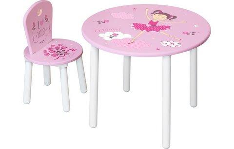 Комплект детской мебели Polini Kids Fun 185 S, Балерина, розовый