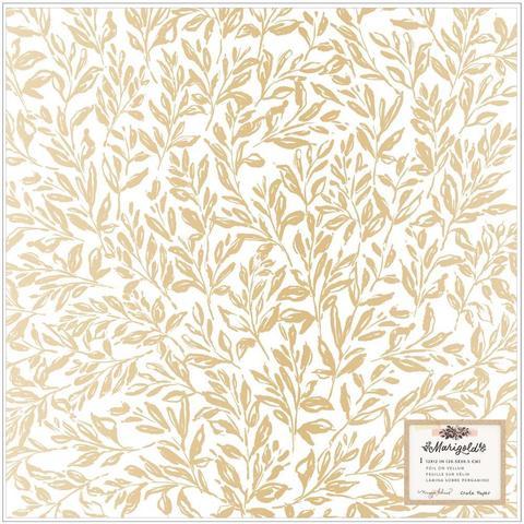 Веллум (калька) с фольгированием 30х30см- Maggie Holmes Marigold by Crate Paper -Single-Sided Vellum - Golden Hour W/Foil Accents  -50шт