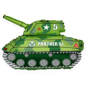 Фольгированный шар Танк зеленый 65см Х 80см
