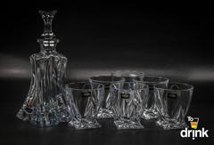 Набор для виски Florale, 1 штоф и 6 бокалов, фото 1