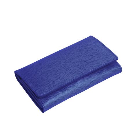 Маникюрный набор Erbe, 7 предметов, кожаный футляр, цвет синий