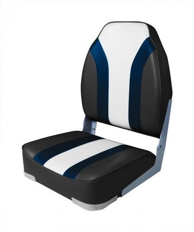 Кресло Highback Rainbow Boat Seat - угольный/синий/светло-серый