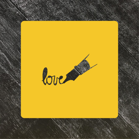 Трафарет любовь №34 Надпись Love