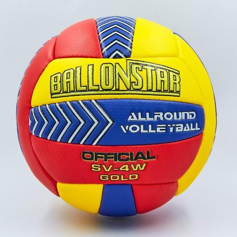 Мяч волейбольный BALLONSTAR (PU, №5, 3 слоя, сшит вручную) 01