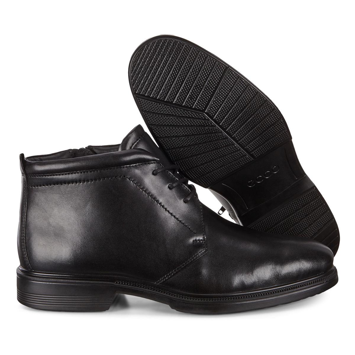 Зимние ботинки Ecco утеплённые со шнурками LISBON_622214/01001
