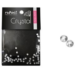 ruNail, Стразы прозрачные (1 мм), 50 шт