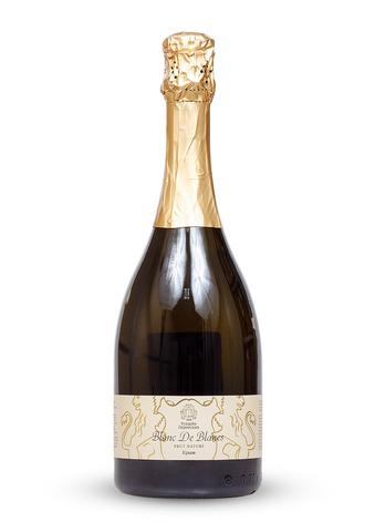 Вино игристое Блан де Блан. Брют Натюр белое экстра брют ТЗ Усадьба Перовских 0,75л.