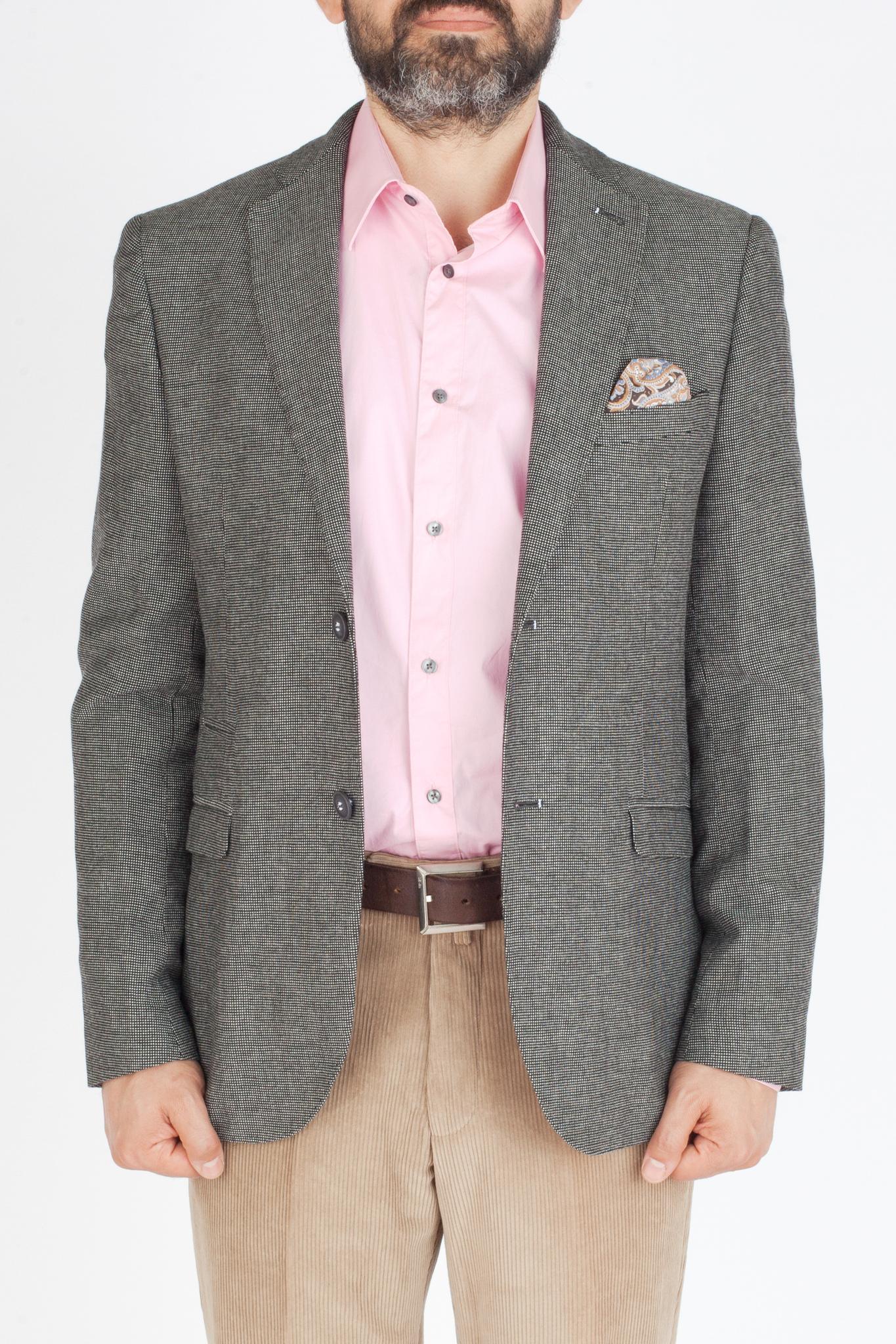 Серый хлопоковый пиджак