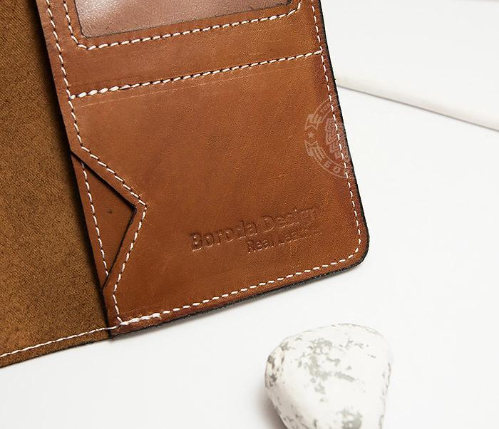 WB117-2 Мужской кошелек и обложка для паспорта с прозрачным окошком. «Boroda Design» фото 05