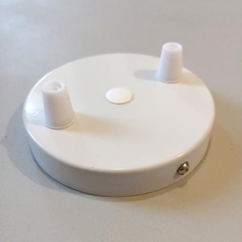 Чашка потолочная на 2 вывода (Белый)