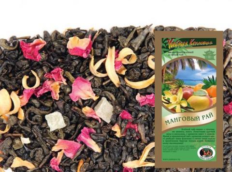 Чай развесной Зелёный Манговый рай ИП Базылева Е.Н. 0,1кг