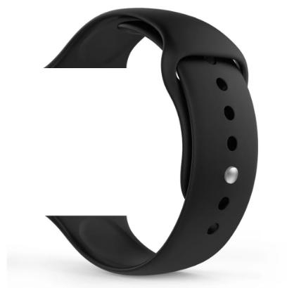 Гаджеты Силиконовый ремешок для Apple Watch 42/44mm черный 5135.png