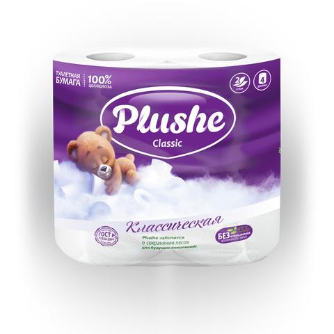 """Туалетная бумага """"Plushe"""" Classic 2сл 4шт"""