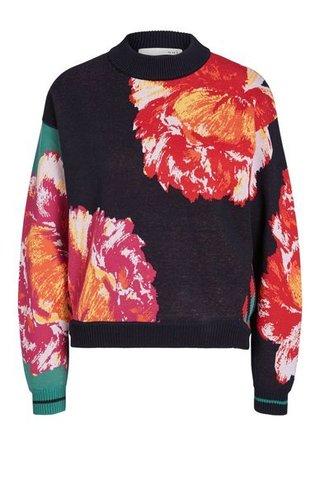 Пуловер с цветами Oui арт.63303