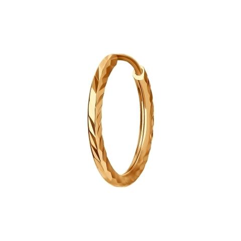 170002- Одиночная серьга-конго из золота 585 пробы