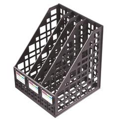 Лоток для бумаг Attache вертикальный 4 отделения черный