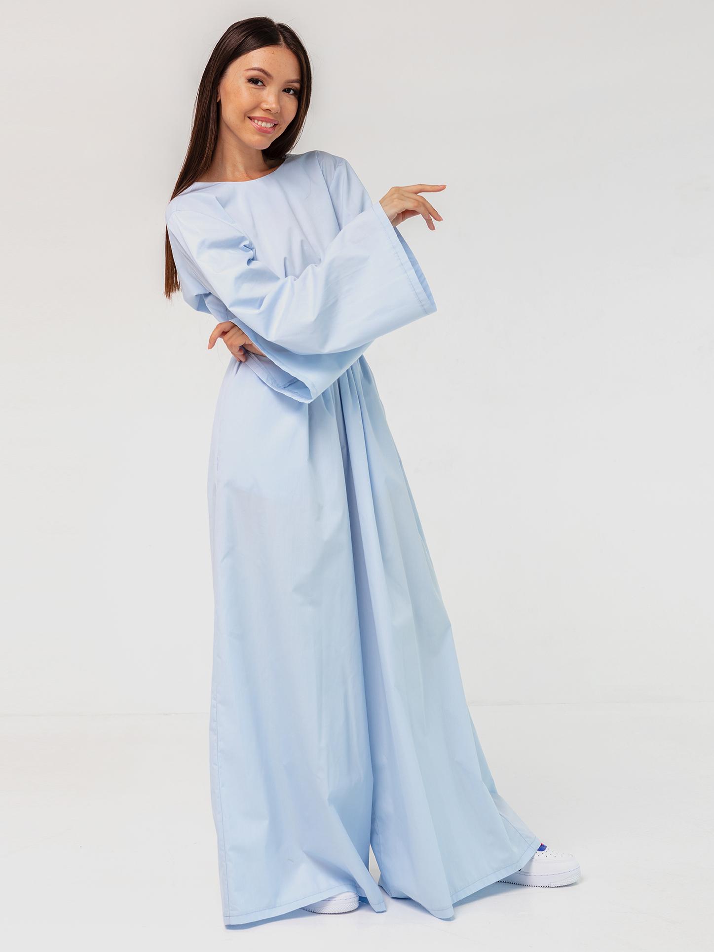 Комбинезон голубой с открытой спинкой YOS от украинского бренда Your Own Style