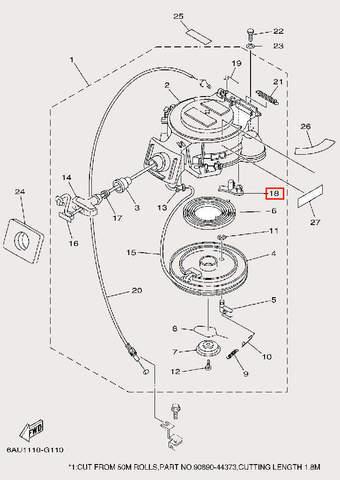 Стопор для лодочного мотора F9,9 Sea-PRO (10-18)