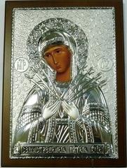 Серебряная икона Божией Матери Семистрельной 21х15см