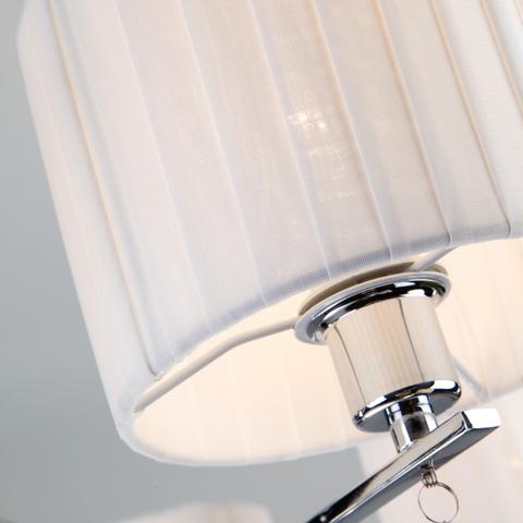 Подвесная люстра с с белыми абажурами 60095/8 хром
