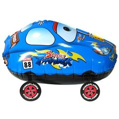 Ходячий шар Гоночная машина синяя