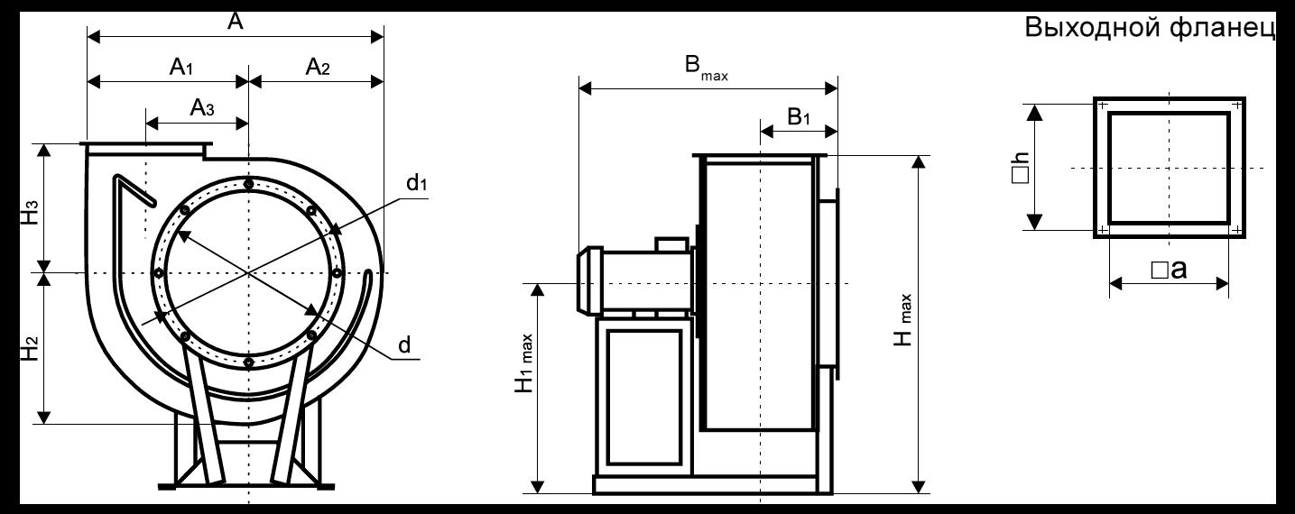 Вентилятор среднего давления ВЦ 14-46-3,15