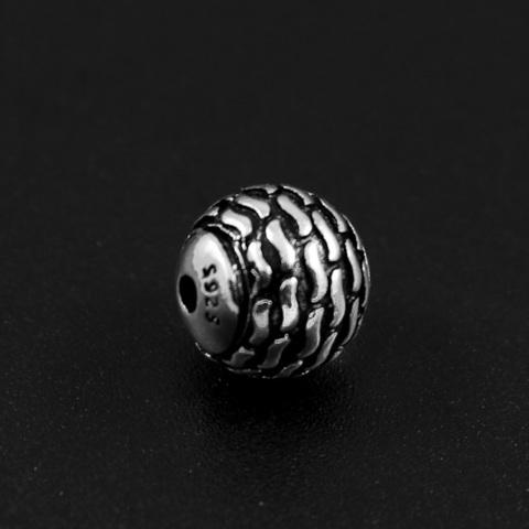 Бусина Волны 7,5 мм серебро 925