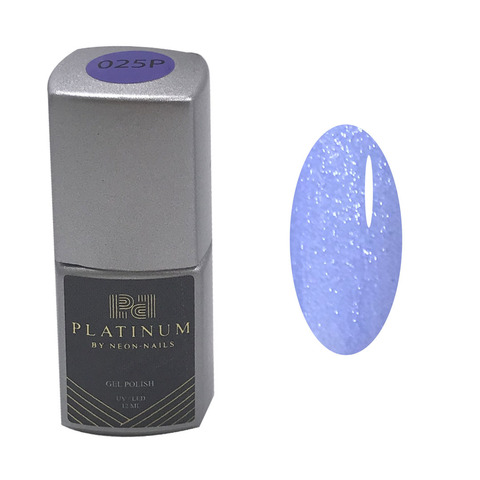 Купить голубой гель-лак с шиммером PLATINUM