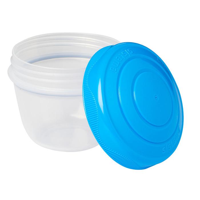 """Контейнер для йогурта Sistema """"TO GO"""" 150 мл, 2шт., цвет Розовый/Голубой"""