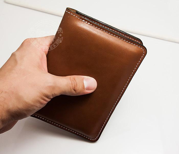WB117-2 Мужской кошелек и обложка для паспорта с прозрачным окошком. «Boroda Design» фото 08