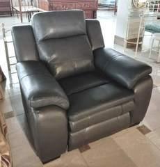 """Кресло """"MK-4717-GL"""" с электрическим реклайнером (изножье+изголовье) —  Графит"""