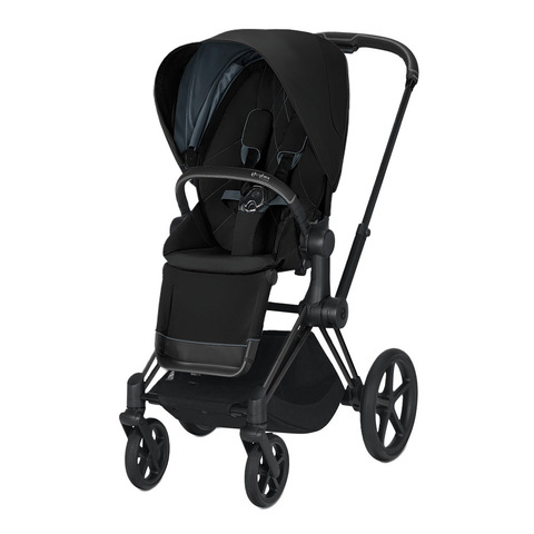 Прогулочная коляска Cybex Priam III Deep Black Matt Black