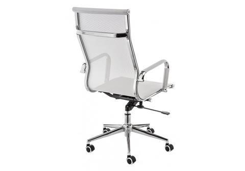 Офисное кресло для персонала и руководителя Компьютерное Reus белое 62*62*106 Хромированный металл /Белый