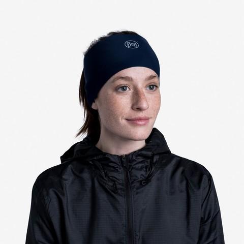Теплая спортивная повязка на голову Buff Headband Tech Fleece Solid Blue фото 2