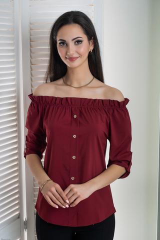 Міка. Молодіжна оригінальна літня блуза. Бордо