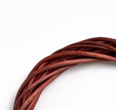 Венок плетеный из лозы натуральный, 30 см, 1 шт.